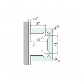 Charnières réglables DQ32 pour porte en verre