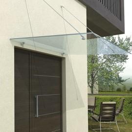 Marquise en verre pour abri extérieur