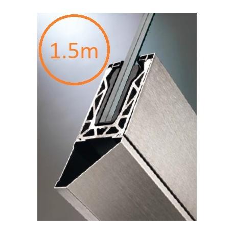 Kit complet Rail Defender® pour garde-corps en verre - 1,5 mètres linéaires posé en nez de dalle