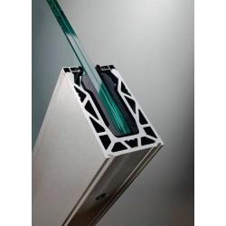 Garde-corps en verre avec rail Defender®