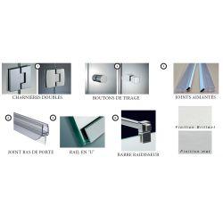 Kit de douche en angle - double portes sur fixe