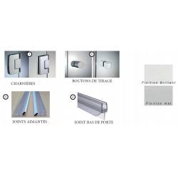 Kit de douche entre mur - Porte simple et retour fixe