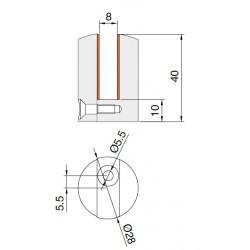 Pince pour tablette en verre 8mm